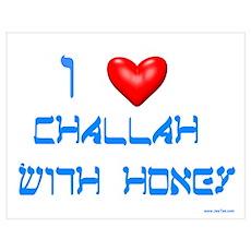 Rosh Hashanah Challah With Honey Poster