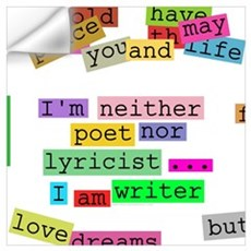 I am writer Wall Decal