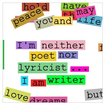 I am writer Poster