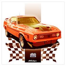 Mustang 1971 1972 Poster