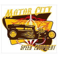 Motor City Speed Equipment Poster