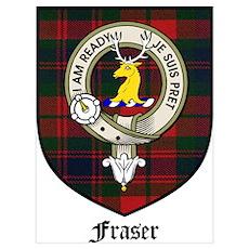 Fraser Clan Crest Tartan Poster