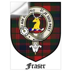 Fraser Clan Crest Tartan Wall Decal