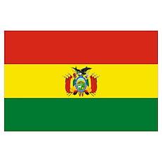 Bolivian flag of Bolivia Poster