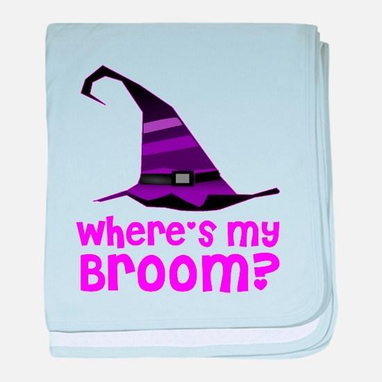 Where's my broom? baby blanket