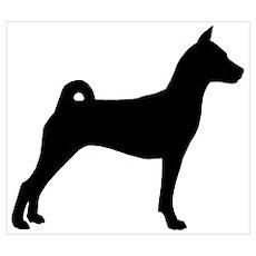 Basenji Dog Poster