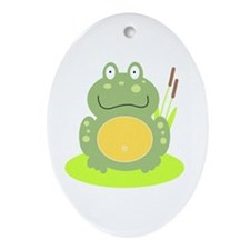 Freddy the Frog Ornament (Oval)