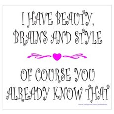 BEAUTY, BRAINS AND STYLE Poster