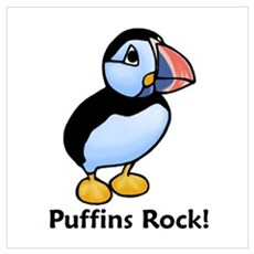 Puffins Rock! Poster