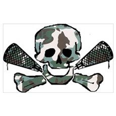 Lacrosse Skull Camo Poster