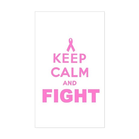 BREAST CANCER AWARENESS Sticker (Rectangle)