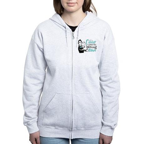Wrong Diva Ovarian Cancer Women's Zip Hoodie