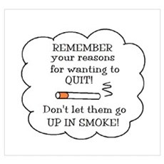 REASONS TO QUIT UP IN SMOKE Framed Print