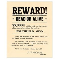 Northfield Bank Robbery Poster