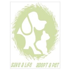 SAVE A LIFE - ADOPT A PET Canvas Art