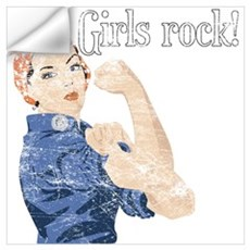 Girls Rock! (vintage) Wall Decal