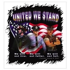 United We Stand Image Framed Print