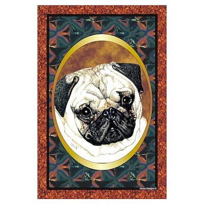 Pug Dog Designer 3 Poster