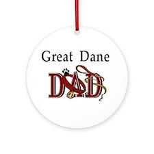 Great Dane Dad Ornament (Round)