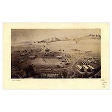 Fort Collins, Colorado 1865 Poster