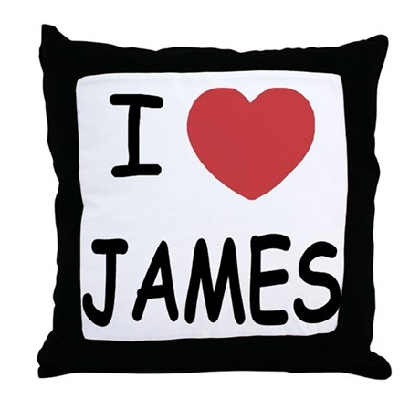 I heart James Throw Pillow
