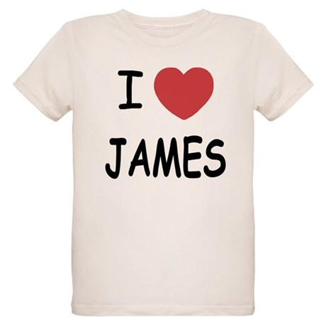 I heart James Organic Kids T-Shirt