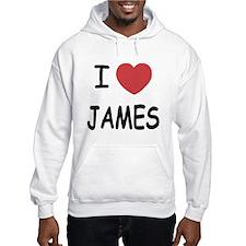 I heart James Hoodie