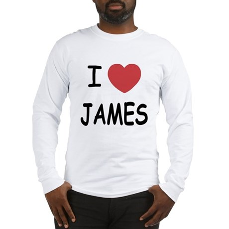 I heart James Long Sleeve T-Shirt