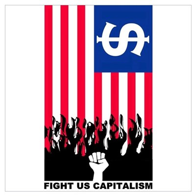 FIGHT US CAPITALISM Framed Print