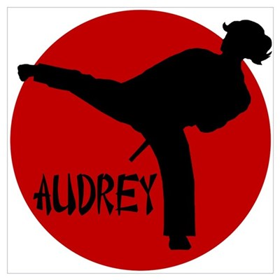 Audrey Martial Arts Canvas Art