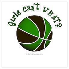 Black/Green Basketball Poster