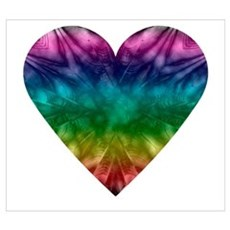 Tie-Dye Rainbow Heart Poster