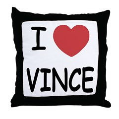 I heart Vince Throw Pillow