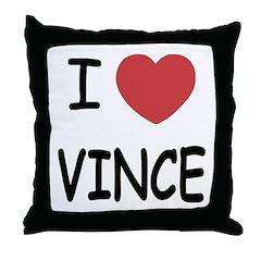 I heart Vince Throw Pillow