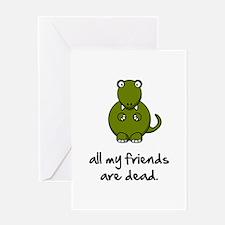 Dinosaur Friends Dead Greeting Card