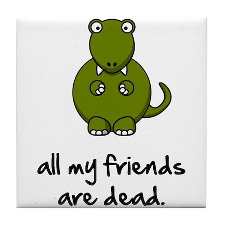 Dinosaur Friends Dead Tile Coaster
