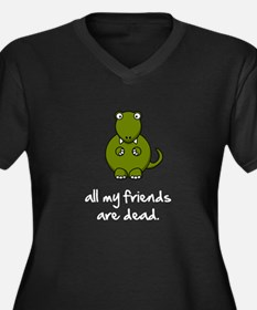Dinosaur Friends Dead Women's Plus Size V-Neck Dar