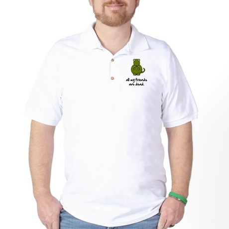 Dinosaur Friends Dead Golf Shirt