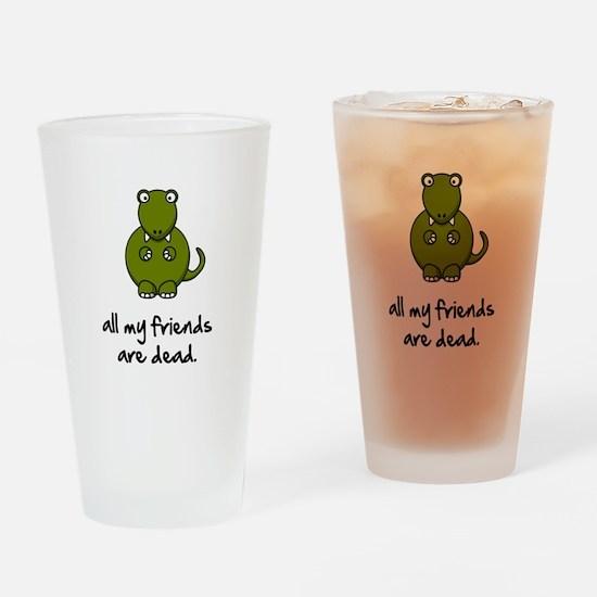 Dinosaur Friends Dead Drinking Glass
