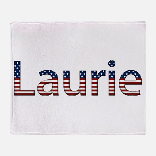 Laurie Stars and Stripes Throw Blanket