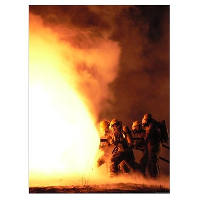 Firefighter Perseverance 13 x 16 Poster