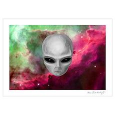 Alien Stare Nebula Poster