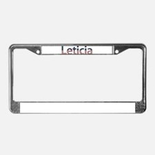 Leticia Stars and Stripes License Plate Frame