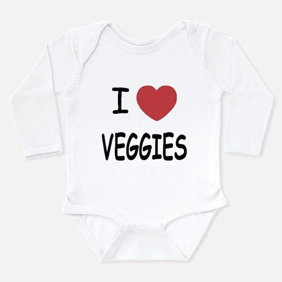 I heart veggies Long Sleeve Infant Bodysuit