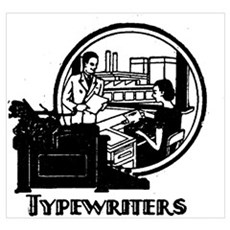 Retro Typewriters Canvas Art