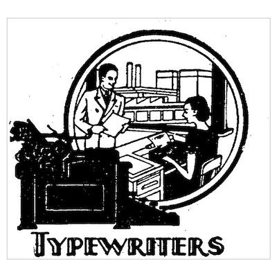 Retro Typewriters Poster
