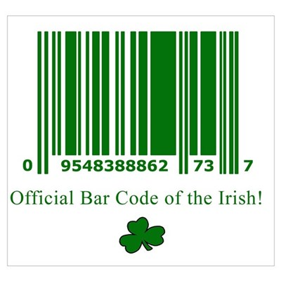 Irish Bar Code Framed Print