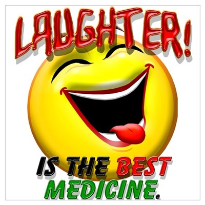 Laughter is the Best Medicine Canvas Art