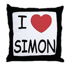 I heart Simon Throw Pillow
