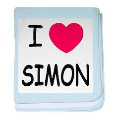I heart Simon baby blanket